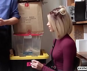 Shoplifter Emma Hix gets bang in the office