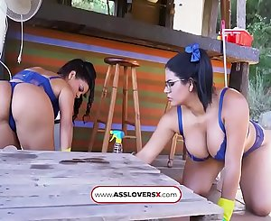 Threesome Sheila Ortega and Kesha Ortega Full Maid Service